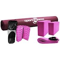 Kit de Yoga con Toalla  Color Rosado -70338 Ros / Sport Fitness