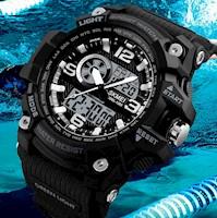 Reloj Multifunción Skmei 1283 Deportivo Extreme Antigolpe Acuático Militar Negro