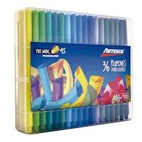 Plumones Trimax Delgados A-45 Caja Plastica x 36 Und