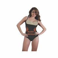 Body 1007 Senos Libres hilo acción  térmica en licra y nylon-negro