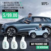 Kit Waterless + All Purpose + Odor Eliminator - 710ML