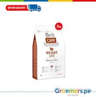 Comida para Perros - BRIT CARE WEIGHT LOSS RABBIT & RICE 3 kg