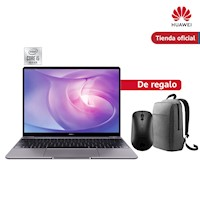 Huawei Matebook 13 i5 + 512GB Gris + Mochila + Mouse