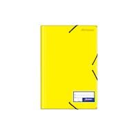 Folder c/liga plástico color entero amarillo