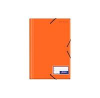 Folder c/liga plástico color entero anaranjado