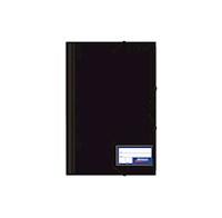 Folder c/liga plástico color entero negro