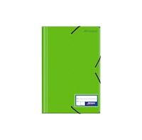 Folder c/liga plástico color entero verde limón
