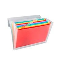 Archivador Acordeon A-4 PP (13 Bolsillos) Multicolor Transparente