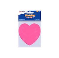 Notas Adhesivas Formas Corazón 5 COL x 50H Neón