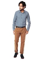 Pantalon Warren Color Siete para Hombre-Cafe