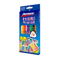 Colores triangulares largos Duo Color x 12 /24 und