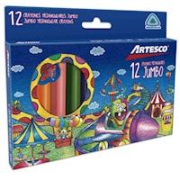 Crayones Triangulares Jumbo x  12 unids.