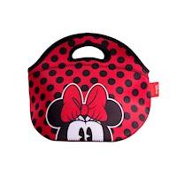 Lonchera neopreno medium Minnie Mouse rojo