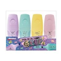 Resaltadores Grip Mediano Pastel set x 4 und