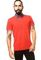 Polo Color Siete para Hombre-Rojo