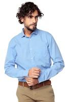 Camisa Manga Larga Murray Color Siete para Hombre-Azul