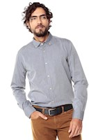 Camisa Manga Larga Jones Color Siete para Hombre-Gris