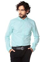 Camisa Manga Larga Murray Color Siete para Hombre-Verde