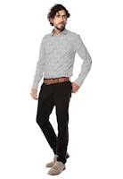 Pantalon Chelsea Color Siete para Hombre-Negro
