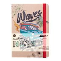 Libreta  Kraft Waves con liga