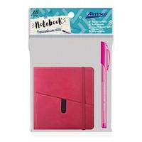 Mini Notebook Wallet fucsia con lapicero Trimax GL32 fucsia