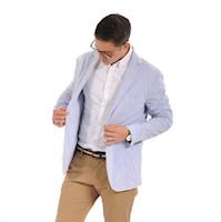 Blazer Color Siete para Hombre-Azul