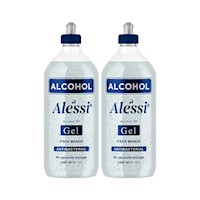 2 Pack Alcohol Gel Anti-Bacterial 70% sin color 1 Lt