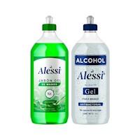 Alcohol Gel 70% 1Lt + Jabón Gel para manos 1 Lt
