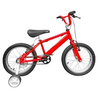 Bicicleta Infantil Niño Rin 16 Con Auxiliares - Rojo Cyber