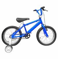 Bicicleta Infantil Niño Rin 16 Con Auxiliares - Azul Cyber