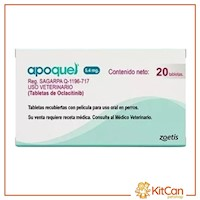 Apoquel 5.4mg - Tratamiento De La Dermatitis Alérgica (Caja 20 Tabl)