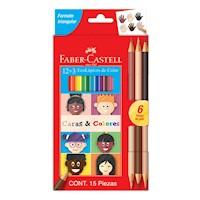 Ecolápices de color x 12 + 3 Caras & Colores