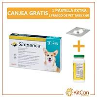 Simparica Antipulgas  Perros Pequeños 10 A 20kg Cajax3tab