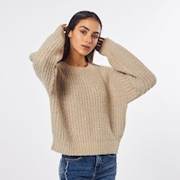CHOMPA PULLOVER SPACE DYE CREMA