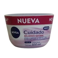 Crema Nivea Cuidado Aclarado Natural 100 Ml