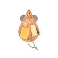 Tabla de queso en forma de Ratón