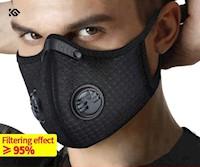 Mascarilla Filtro De Carbono 5 Capas Reutilizable Estilo + 2 Filtros
