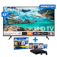 "Televisor Samsung  Smart TV 4K 43"" 43RU7100 + Mega Pack"