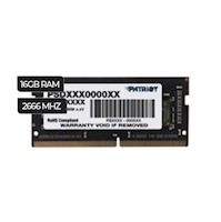 MEMORIA RAM PATRIOT SIGNATURE LINE 16GB DDR4 PARA LAPTOP (PSD416G266KH)