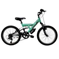 "Bicicleta Monark Killer Alloy 1.8 Aro 20"" Verde Negro Niño Aluminio"
