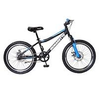 "Bicicleta Monarette Trax Aro 20"" Negro Azul"