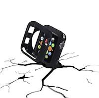 Correa respuesto Reloj Silicona Apple Watch Band 38mm S/M + Funda Reloj - Negro