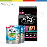 Comida para Perro Pro Plan - Exigent Small Breed 7.5 kg + 2DENTALIFE