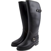 Bottplie - Botas De Lluvia Impermeable Horse Riding Negro