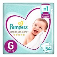 Pampers Premium Care Pañales Desechables G 54 Unidades