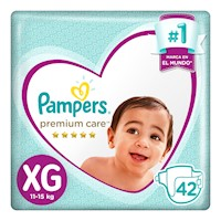 Pampers Pañales Premium Care Pañales Desechables XG 42 Unidades