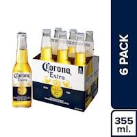 Corona - Cerveza Corona Six Pack Botella 355Ml