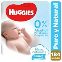 Toallitas Húmedas Huggies Puro & Natural 184 unidades