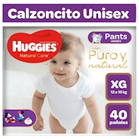 Pañales Huggies Natural Care Unisex Talla XG 40 unid