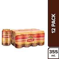 Cusqueña  - Cerveza Cusqueña Twelve Pack Lata 355Ml